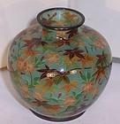 Antique Japanese Meiji Plique a Jour Cloisonne Enamel Vase