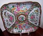 "Chinese Export Porcelain China  Rose Medallion 9"" Low Bowl c.1840"