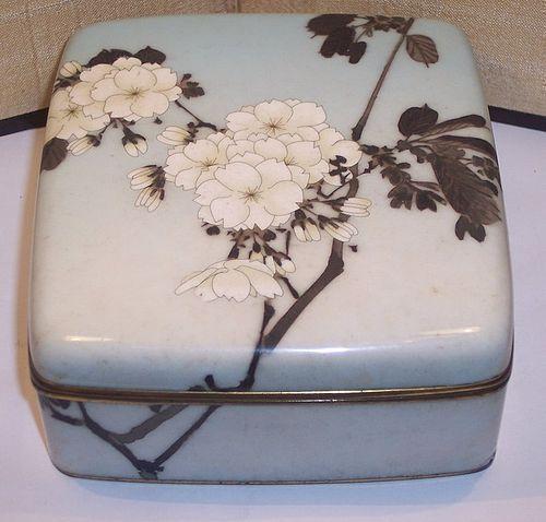 Early Namikawa Sosuke Japanese Meiji Cloisonne Enamel Box