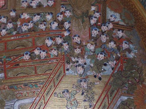 """Japanese Meiji Satsuma 4 7/8"""" Cabinet Bowl sgnd. Hankinzan c.1890"""