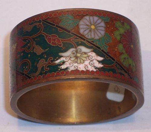 Japanese Meiji Cloisonne Enamel Napkin Ring Namikawa Style