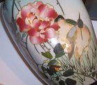 """Antique Japanese Cloisonne Enamel 7"""" Namikawa Sosuke Style Vase Heron"""