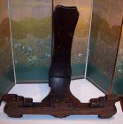 Original Antique Namikawa Sosuke Cloisonne Tray Wood Stand Eagle Heads