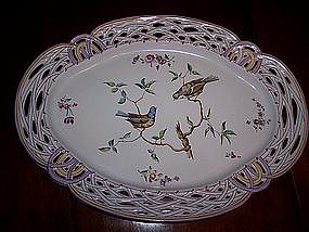"Exquisite Signed Galle French Faience 14"" Platter"