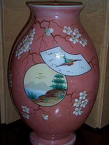 Art Glass Vase Japanese Decor European or American