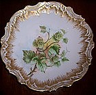 Gorgeous American Hand Painted Plate,Goose Berries