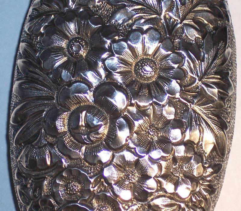 GORHAM REPOUSSE STERLING SILVER LADIES FLASK 1890
