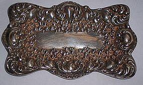 Fine Antique Sterling Silver Dresser Tray Unger Bros.