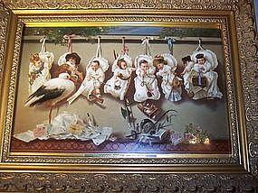 Fabulous Hutschenreuther Royal Vienna Porcelain Plaque