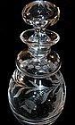 Fine American Cut Glass Perfume Bottle Engraved Thistle