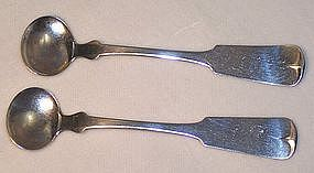 American Coin Silver Salt Spoons SW Lee Providence R.I.