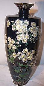 """Antique Meiji Japanese Silver Wire Cloisonne 7"""" Vase Attrib Hayashi"""