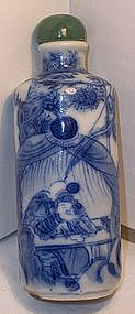 Chinese Blue &White Porcelain Snuff Bottle Chien Lung
