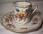 Antique Dresden H P Porcelain Cup & Saucer Flowers