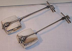 Japanese Sterling Music Instrument Salt Pepper Shakers