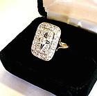 14K & PAVE DIAMONDS GEORGIAN RING