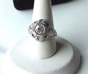 ART DECO PLATINUM & DIAMONDS RING