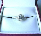 18K WHITE GOLD .85 CARAT DIAMOND ENGAGEMENT RING