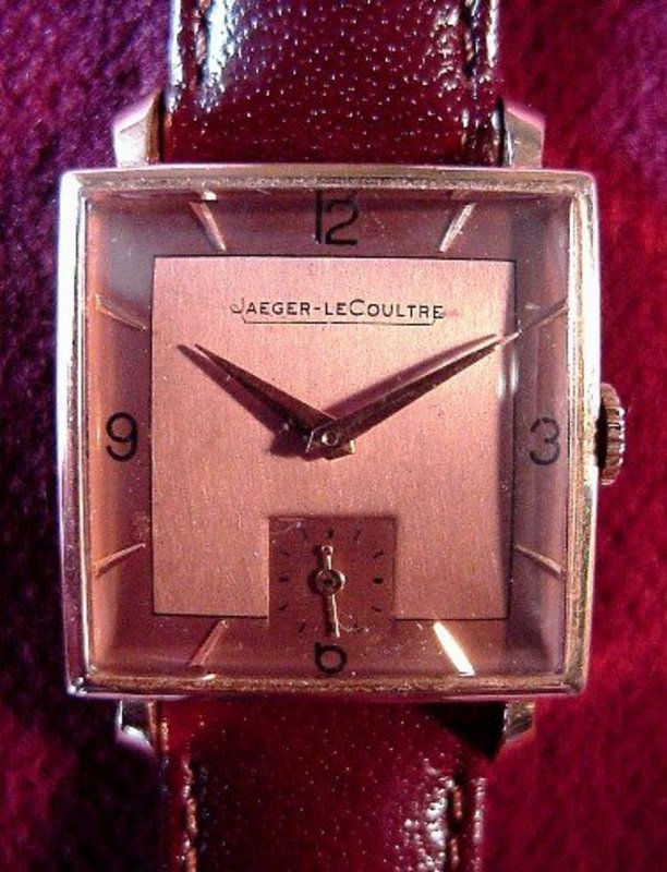 18K JAEGER LECOULTRE GENT'S WW { Rose Gold