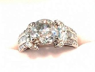 Beautiful 2.54 Carat Center Diamond Engagement Ring