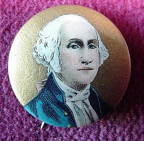 G. WASHINGTON PINBACK PIN {EXCEL COND. L@@K