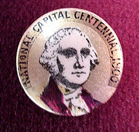 G.Washington NAT'L CENTENNIAL PINBACK {1900
