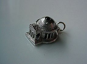 STERLING THOMAS JEFFERSON MEMORIAL STANHOPE CHARM
