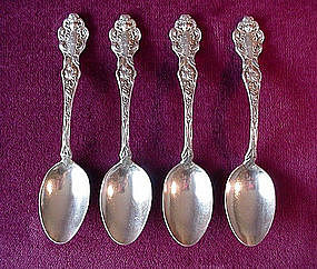 4 BEAUTIFUL UNGER TEASPOONS LES CIRCES 1904