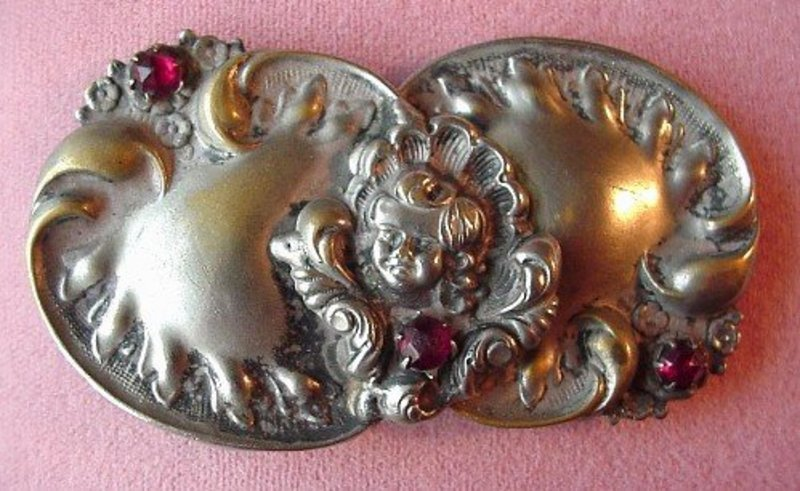 ANTIQUE BUCKLE ANGEL or CHERUB on the FRONT