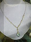 ART DECO AQUAMARINE NECKLACE CIRCA 1920