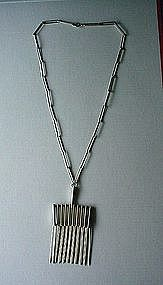 UNUSUAL STERLING NECKLACE BY FROM SMOOTH AS SILK SILVER