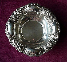 STERLING ART NOUVEAU BOWL FLORAL BORDERS