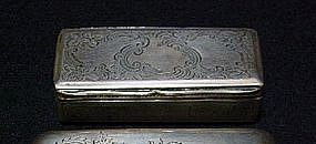 AN AUSTRIAN SILVER BOX 1857 VIENNA MAKERS MARK