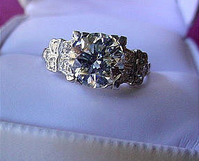 2.06 CARAT PLATINUM DIAMOND ENGAGEMENT RING