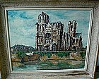 OIL ON CANVAS EVREUX CATHEDRAL RAYMOND BESSE