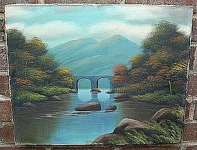 T. BAILEY.. LANDSCAPE OIL ON CANVAS ...  LISTED ARTIST