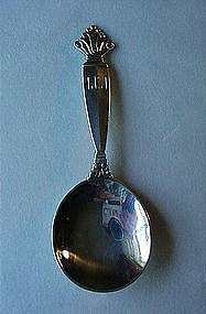 GEORG JENSEN SMALL SERVING SPOON ACANTHUS PATTERN