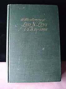 Life of ...LEO N. LEVI...  MEMORIAL ED. 1905