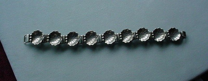 STERLING LA PAGLIA BRACELET ESTATE PIECE SHELLS MOTIF