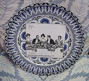 BLUE AND WHITE GIBSON GIRL PLATE 1901 ROYAL DOULTON
