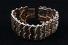 18K RETRO BRACELET WEIGHTY ROSE GOLD CIRCA 1950