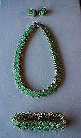 JOMAZ JADE BRACELET NECKLACE AND ER SET