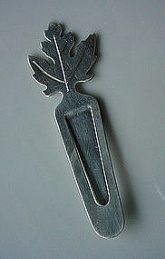 STERLING TIFFANY & COMPANY BOOKMARK... LEAF MOTIF