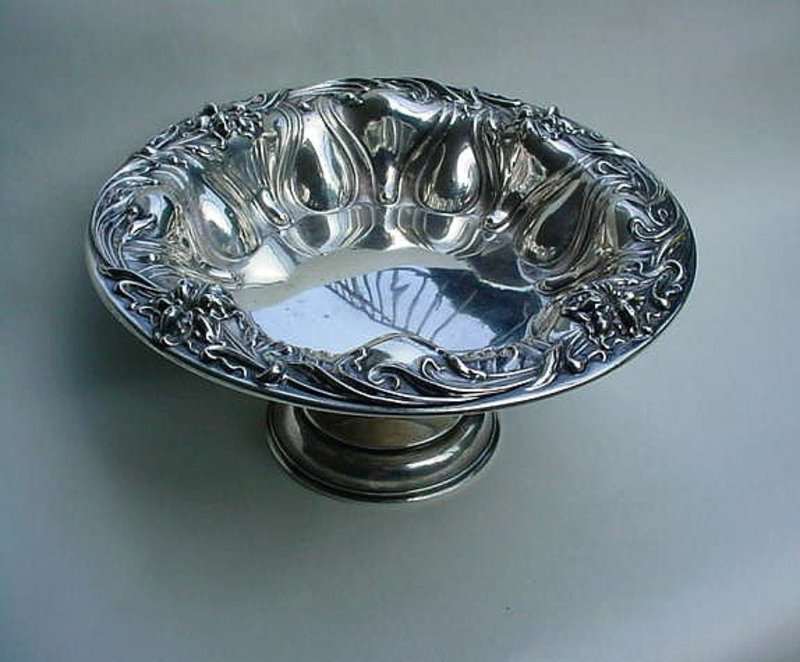 BEAUTIFUL ART NOUVEAU STERLING COMPOTE