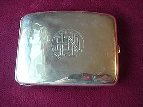 Sterling ART DECO CIRGARETTE CASE { Curved