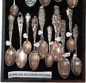 STERLING SOUVENIR SPOON GOLDEN GATE SAN FRANCISCO etc