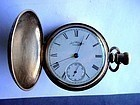 ANTIQUE LEVER SET HC AMER WALTHAM POCKET WATCH