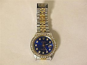 GENT'S ROLEX OYSTER PRECISION WRIST WATCH DIAMOND BEZEL