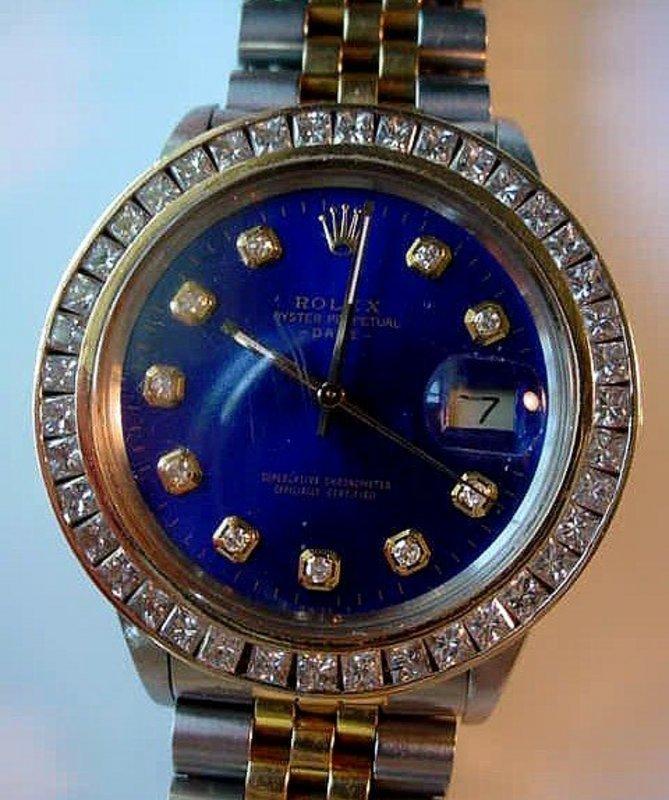 GENT'S ROLEX OYSTER PRECISION WRIST WATCH DIAMOND BEZEL