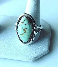 Signed STERLING NATIVE AMERICAN RING { Ma Atsidii